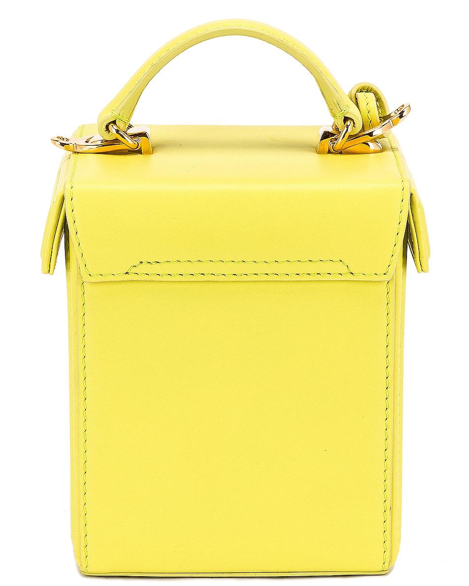 Image 3 of Mark Cross Grace Cube Bag in Citron