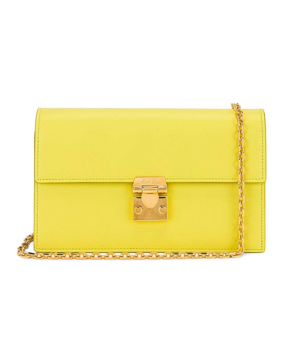 Image 1 of Mark Cross Jacqueline Chain Bag in Citron