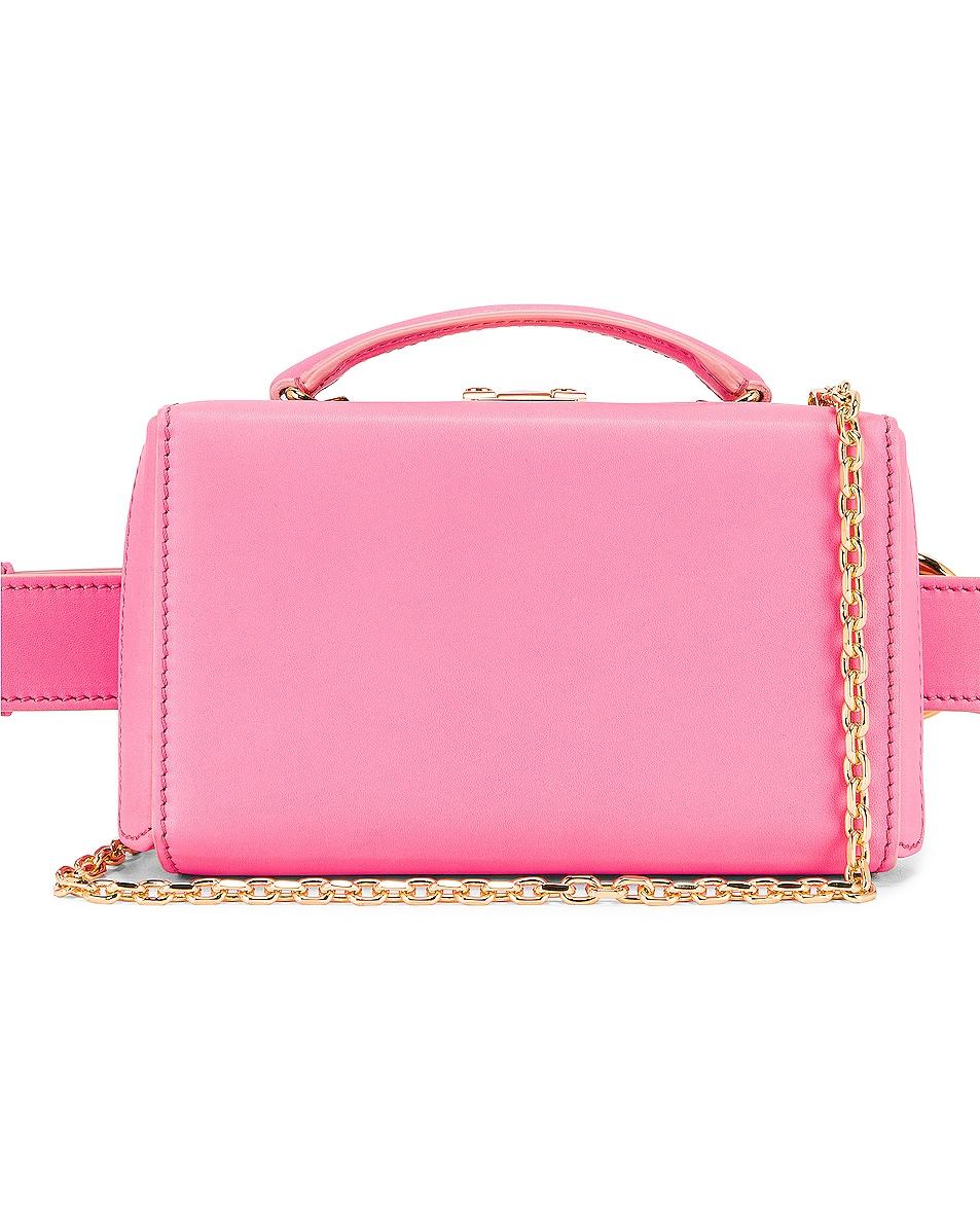 Image 1 of Mark Cross Grace Box Belt Bag in Flamingo