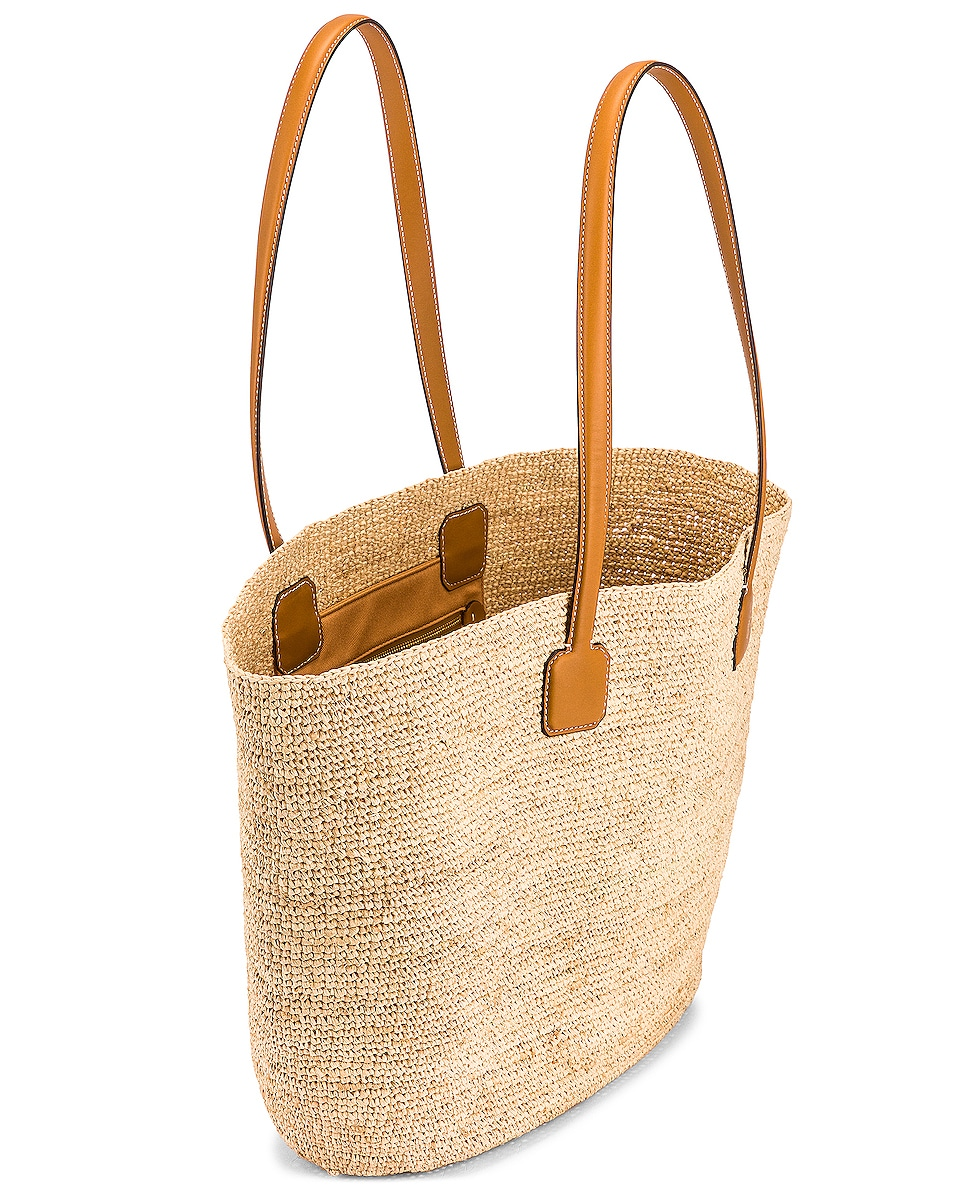 Image 5 of Mark Cross Raffia & Leather Cote D Tote in Luggage