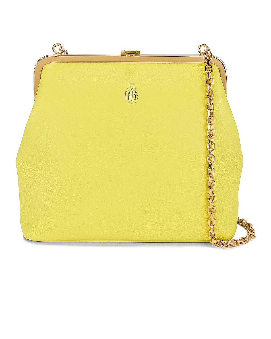 Image 1 of Mark Cross Susanna Frame Pouch Bag in Citron