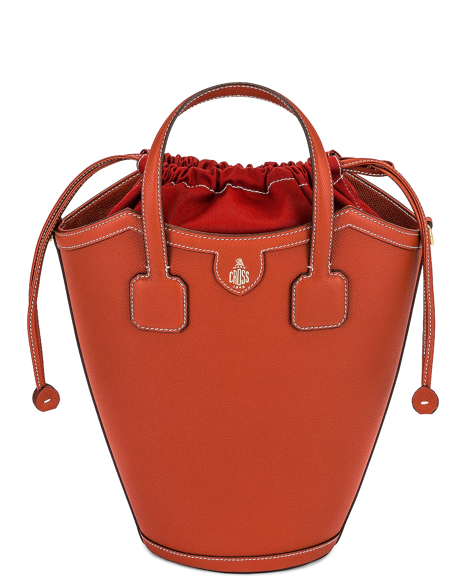 Image 1 of Mark Cross Madeline Bucket Bag in Picante