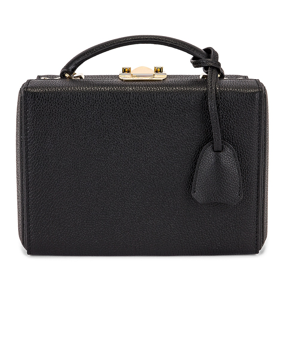 Image 1 of Mark Cross Small Grace Tumbled Grain Box Bag in Black