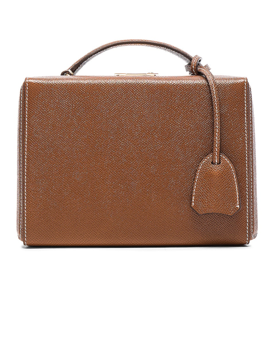 Image 3 of Mark Cross Small Saffiano Grace Box Bag in Acorn Saffiano