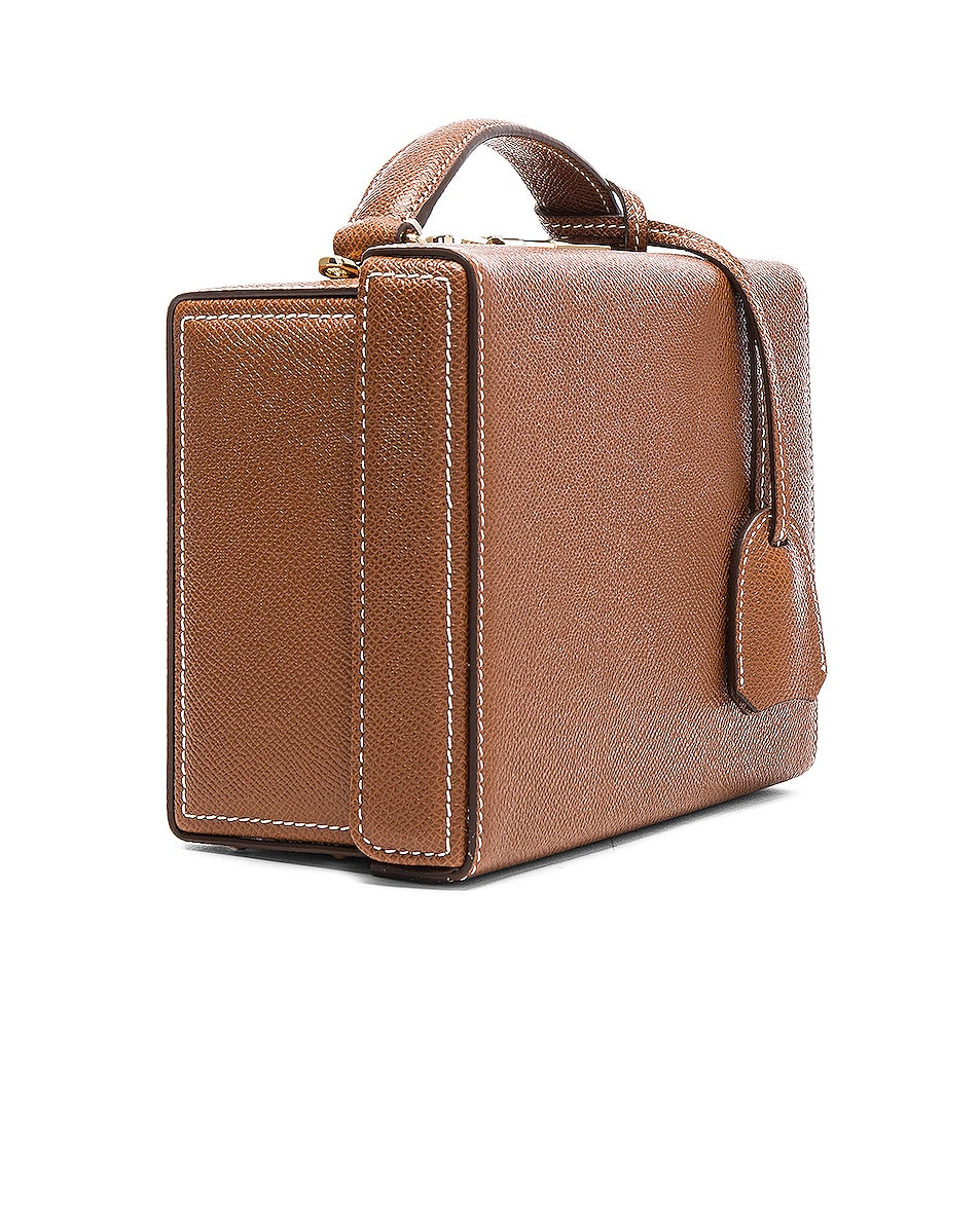 Image 5 of Mark Cross Small Saffiano Grace Box Bag in Acorn Saffiano