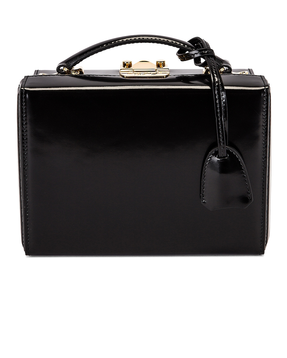 Image 1 of Mark Cross Small Brush Off Grace Box Bag in Black