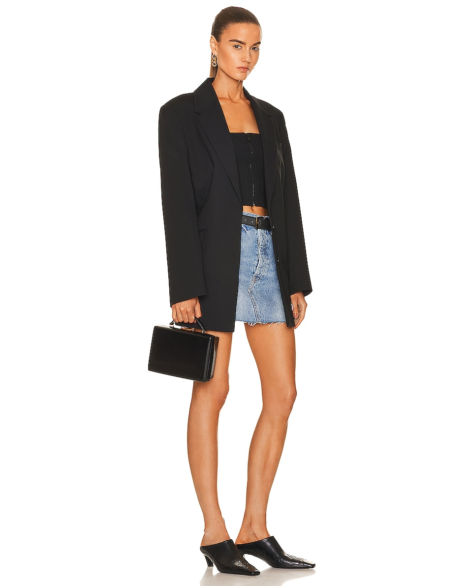 Image 2 of Mark Cross Small Brush Off Grace Box Bag in Black