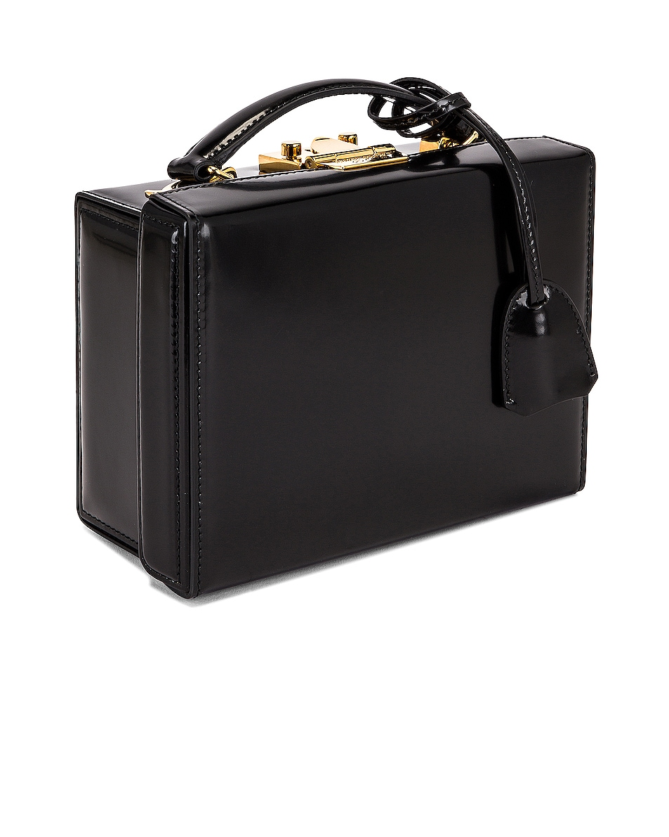 Image 3 of Mark Cross Small Brush Off Grace Box Bag in Black