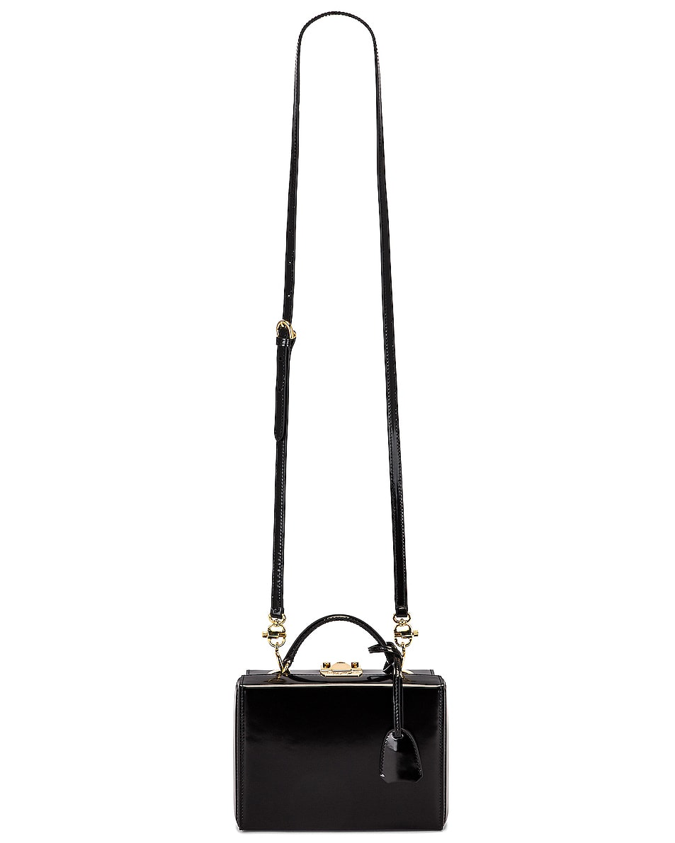 Image 5 of Mark Cross Small Brush Off Grace Box Bag in Black