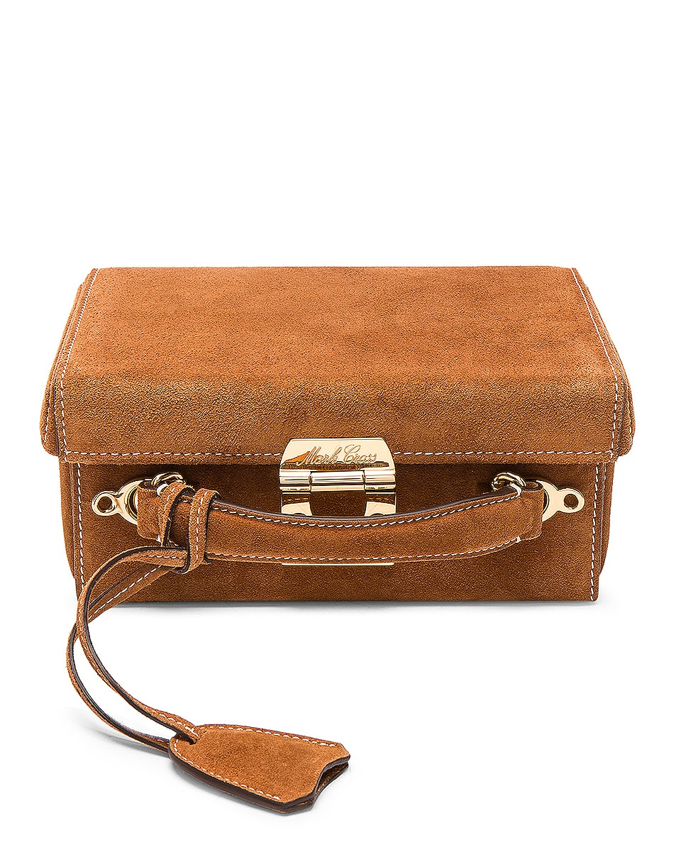 Image 1 of Mark Cross Grace Small Box Bag in Suede Acorn