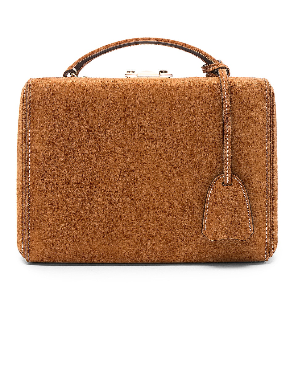 Image 3 of Mark Cross Grace Small Box Bag in Suede Acorn