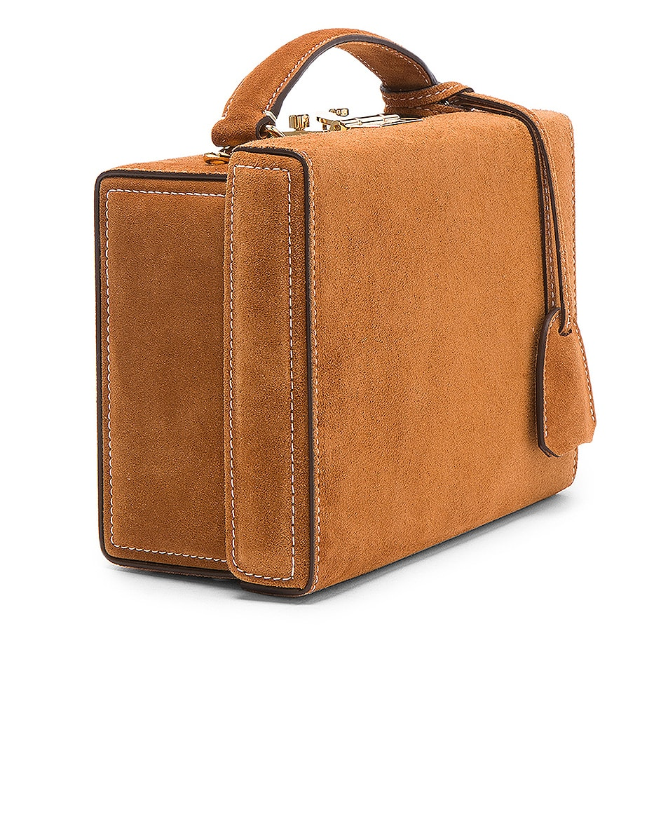 Image 5 of Mark Cross Grace Small Box Bag in Suede Acorn