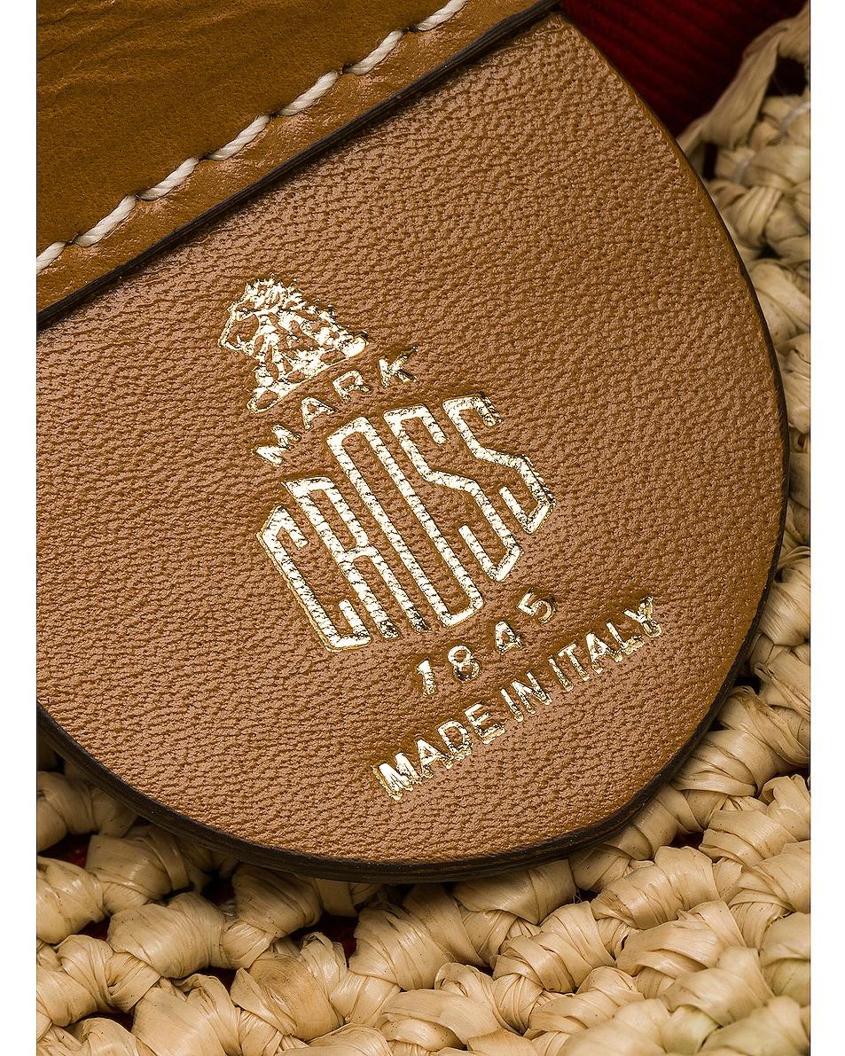 Image 7 of Mark Cross Murphy Raffia Bag in Natural & Luggage