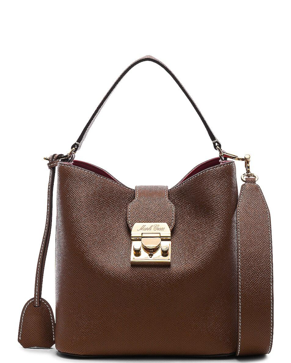 Image 1 of Mark Cross Murphy Small Bucket Bag in Acorn