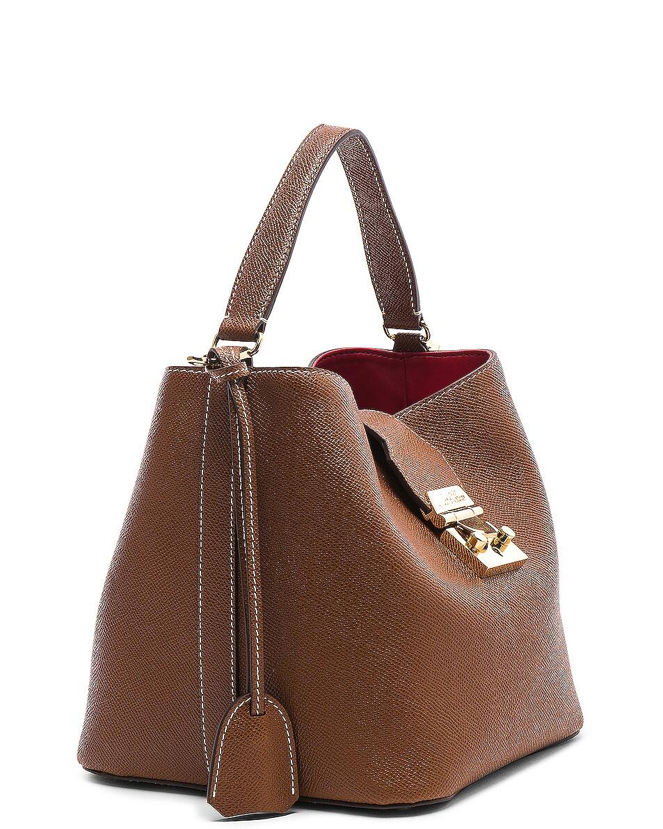 Image 4 of Mark Cross Murphy Small Bucket Bag in Acorn