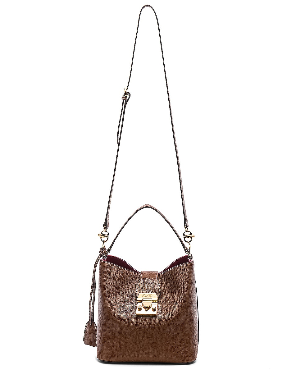Image 6 of Mark Cross Murphy Small Bucket Bag in Acorn