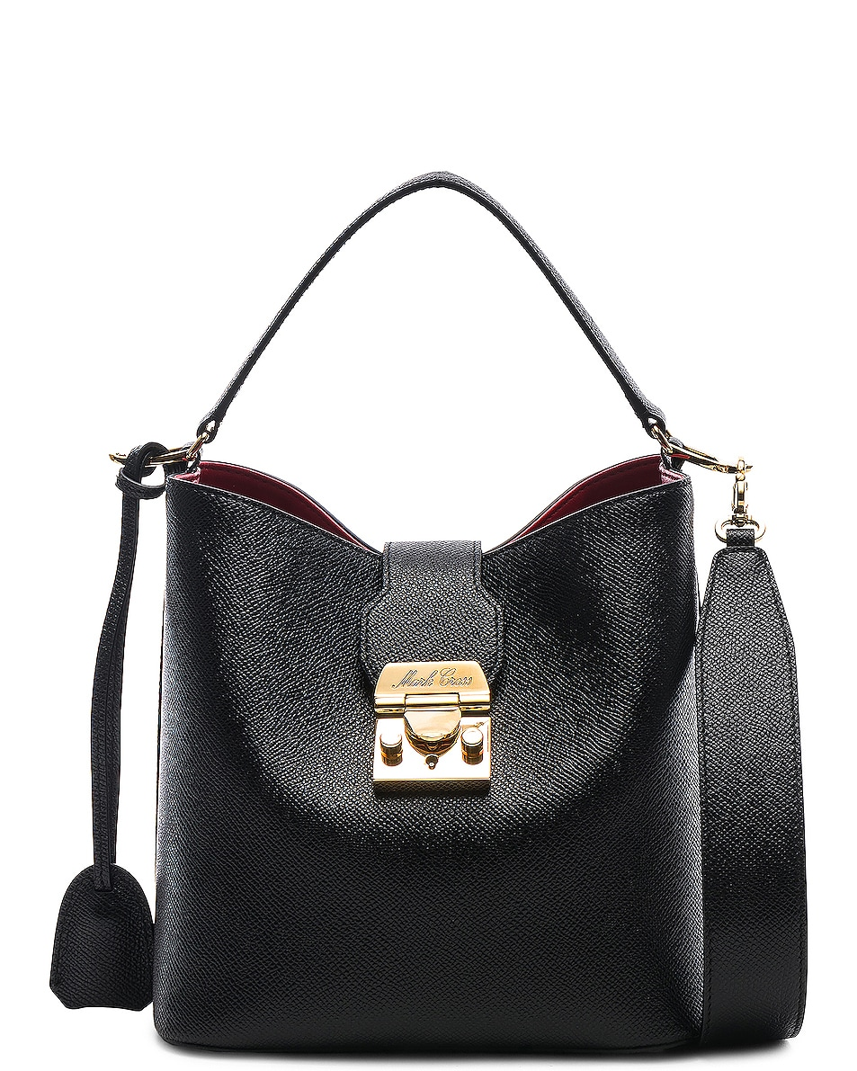Image 1 of Mark Cross Murphy Small Bucket Bag in Black
