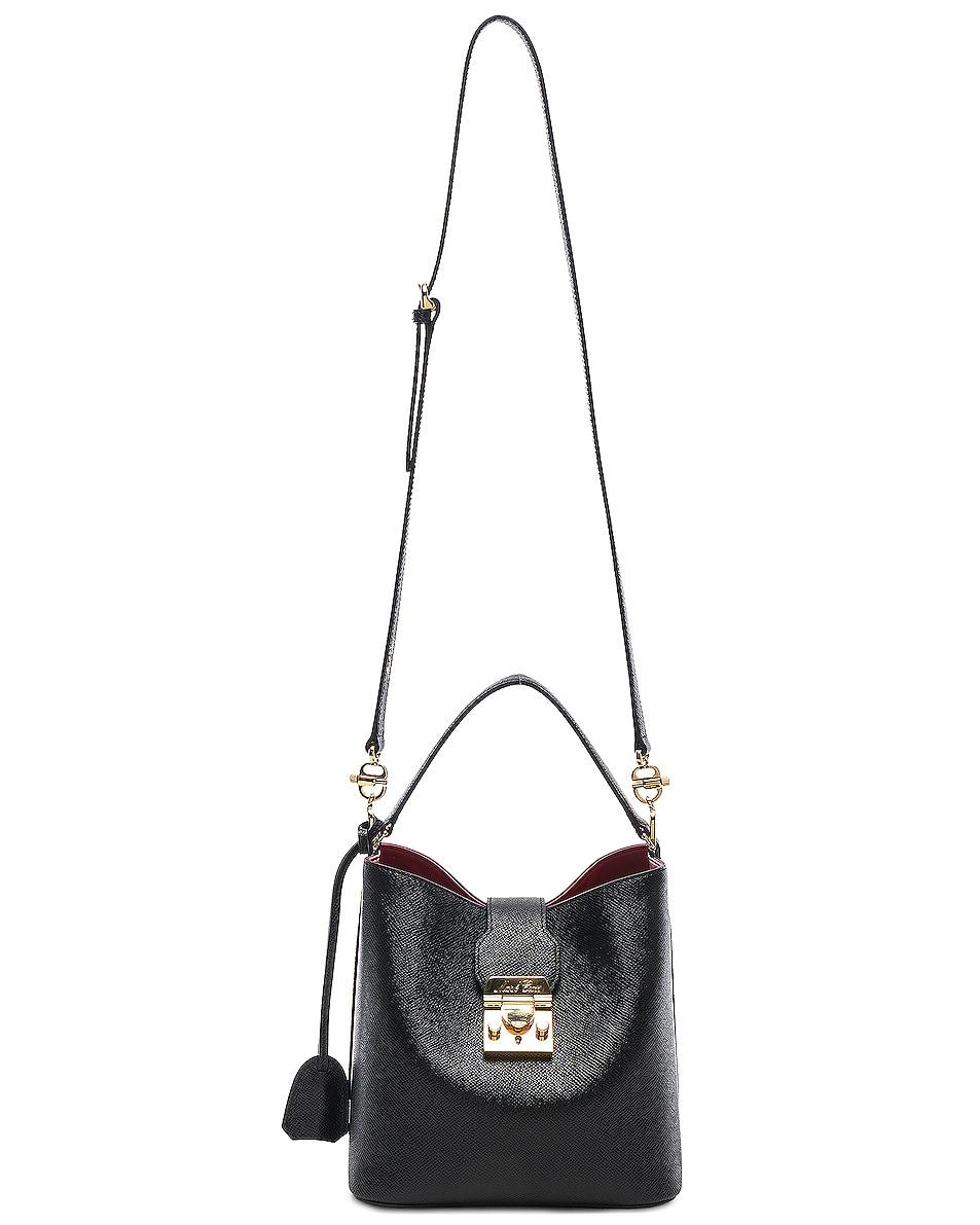 Image 6 of Mark Cross Murphy Small Bucket Bag in Black