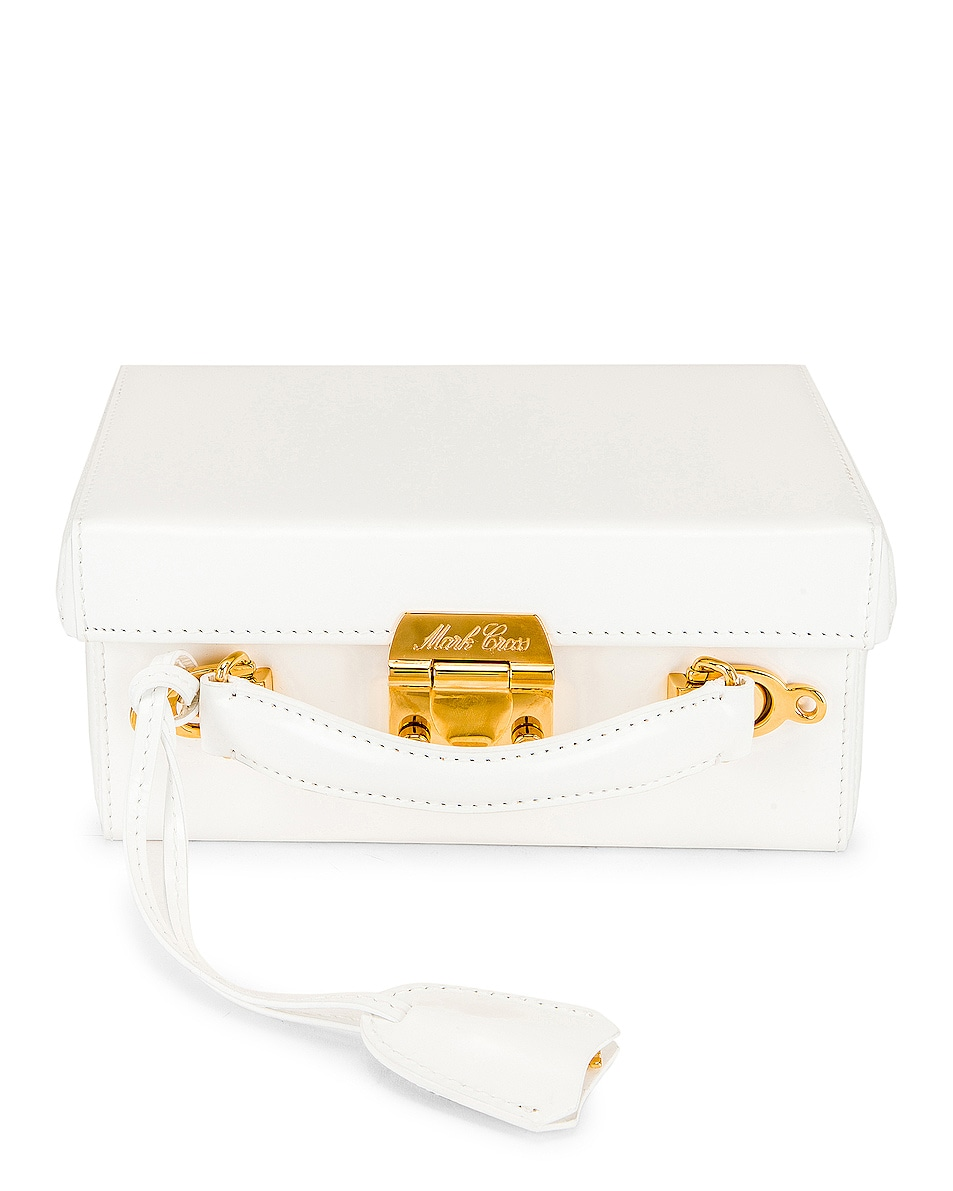 Image 1 of Mark Cross Grace Small Box Bag in White