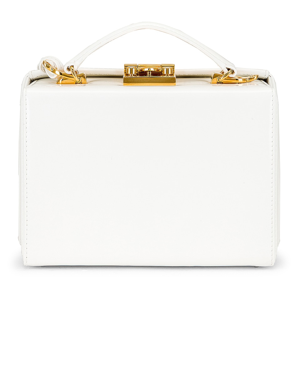 Image 3 of Mark Cross Grace Small Box Bag in White