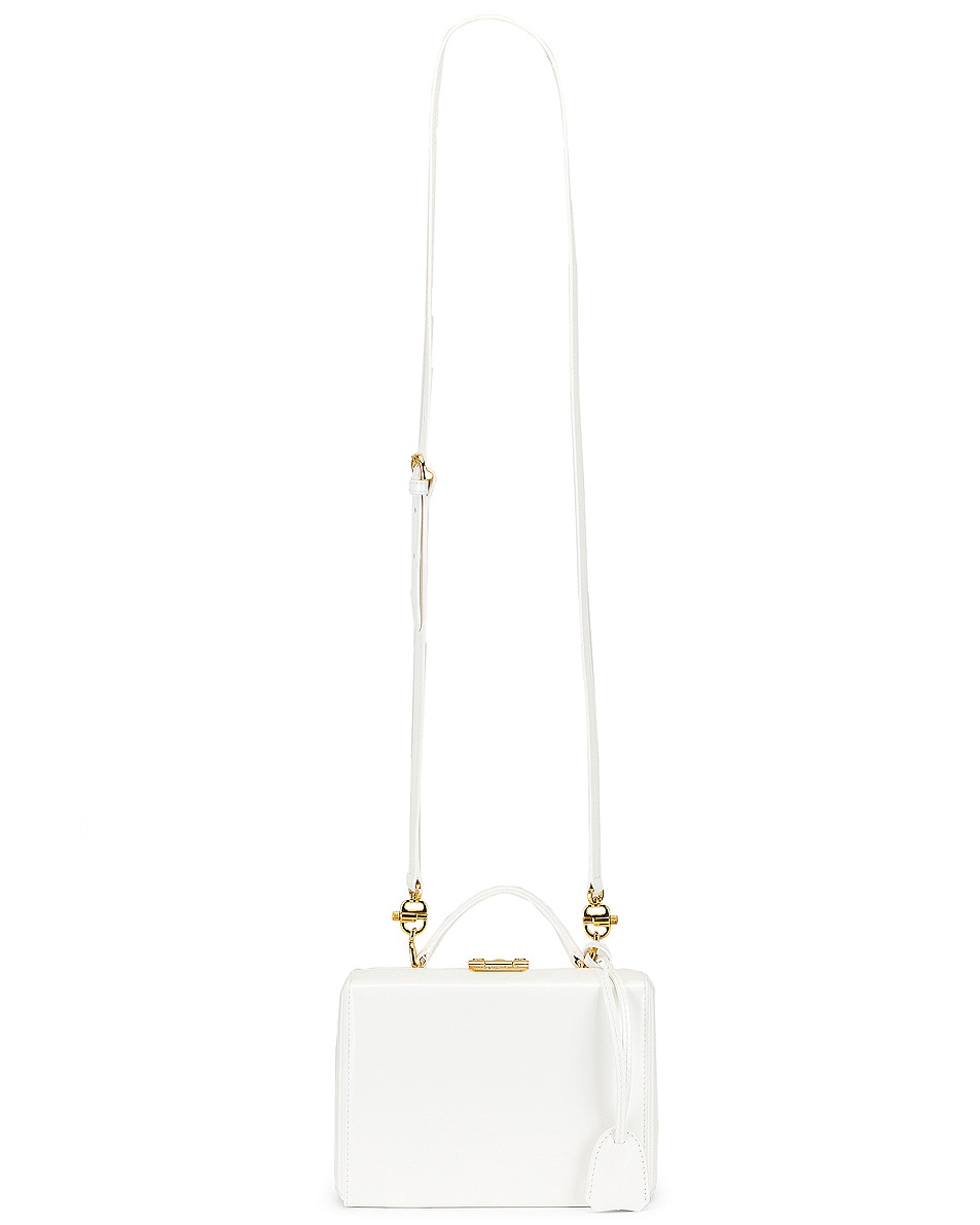 Image 5 of Mark Cross Grace Small Box Bag in White