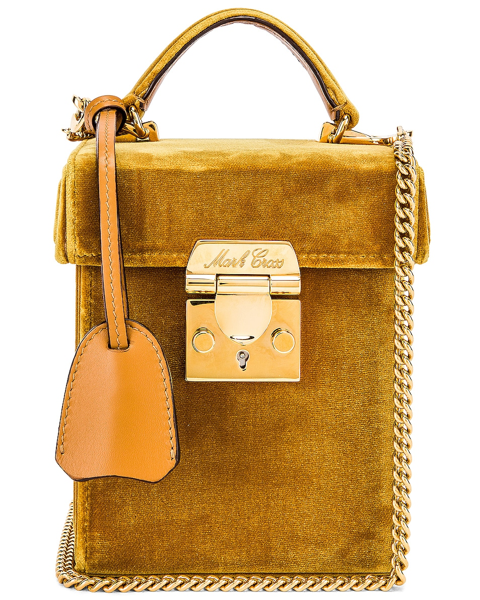 Image 1 of Mark Cross Grace Cube Bag in Gold