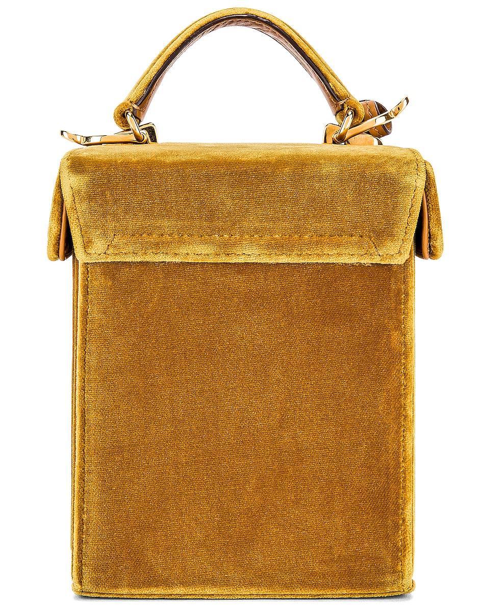 Image 3 of Mark Cross Grace Cube Bag in Gold