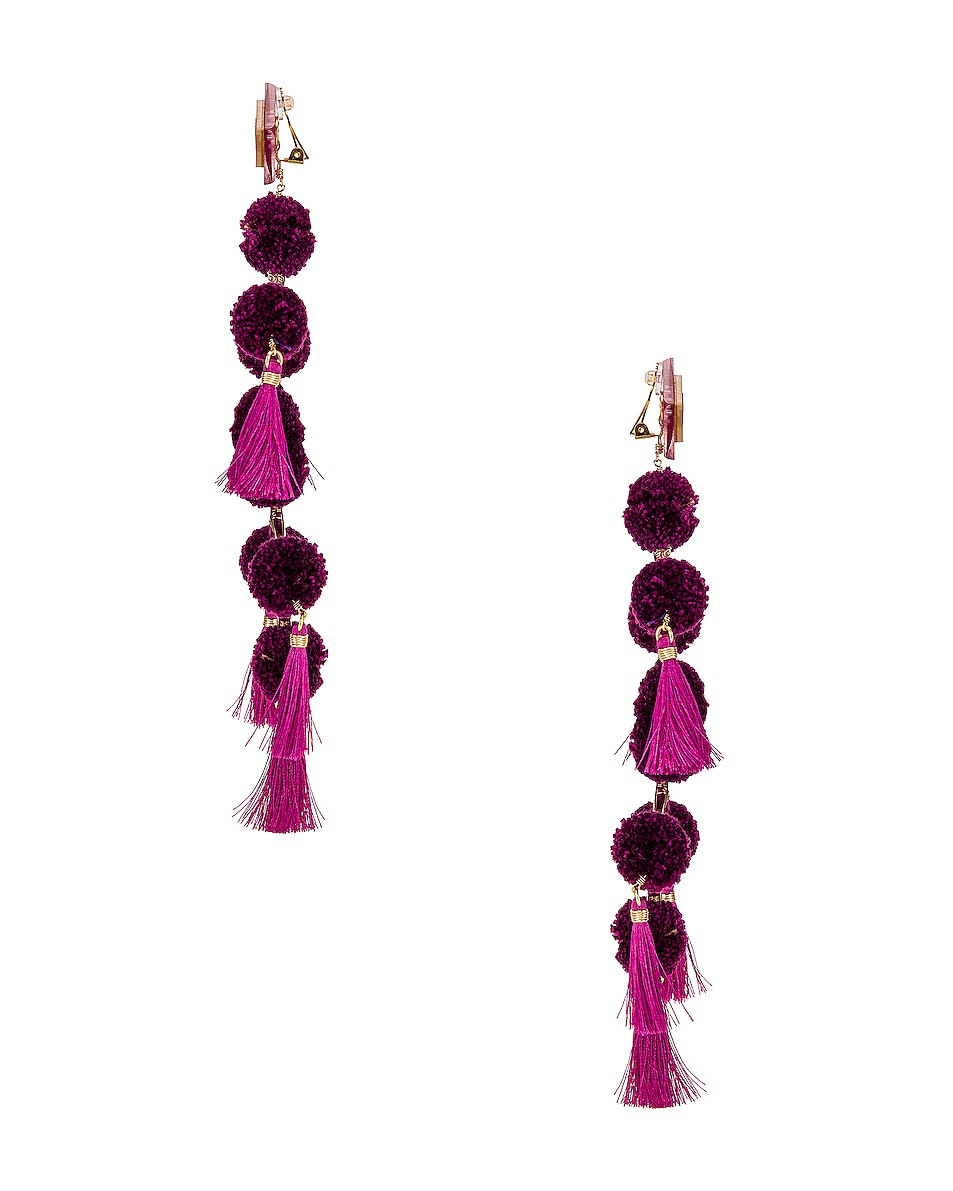 Image 3 of Mercedes Salazar Narar Doble Earrings in Fuchsia