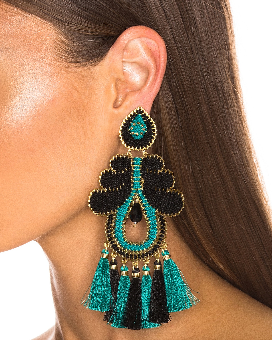 Image 2 of Mercedes Salazar Curubas Earrings in Turquoise