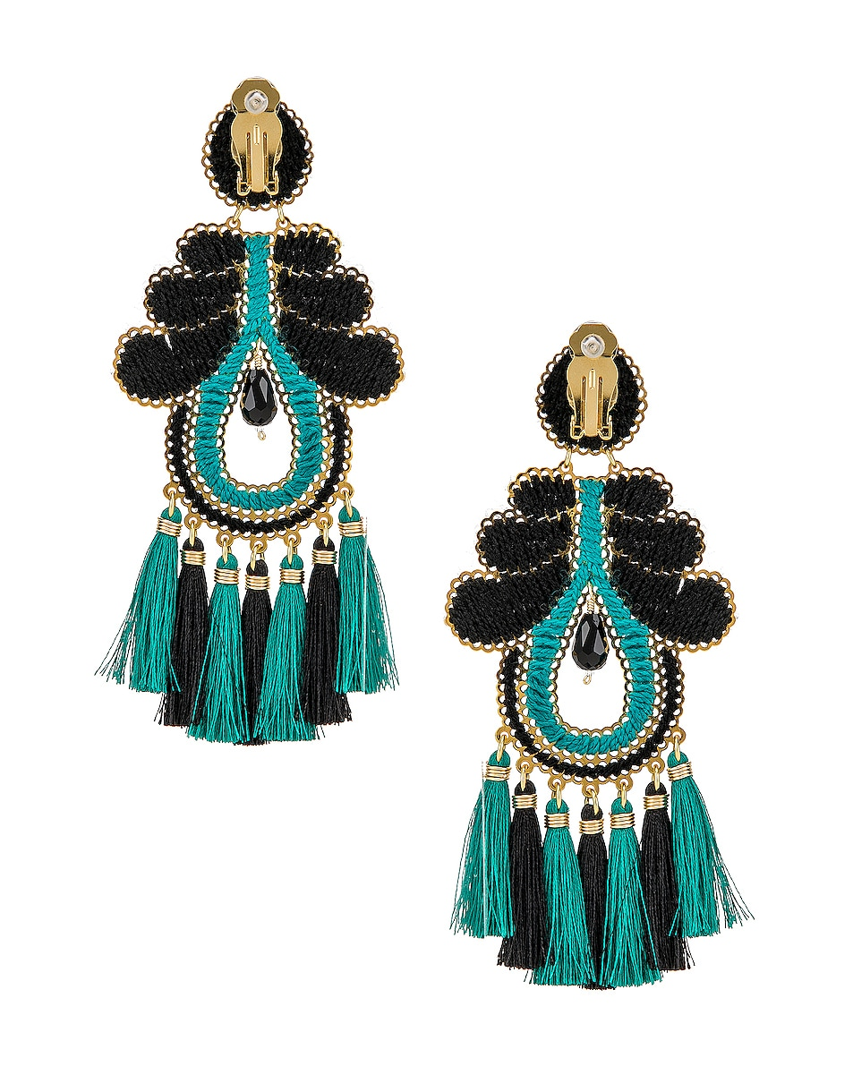 Image 4 of Mercedes Salazar Curubas Earrings in Turquoise