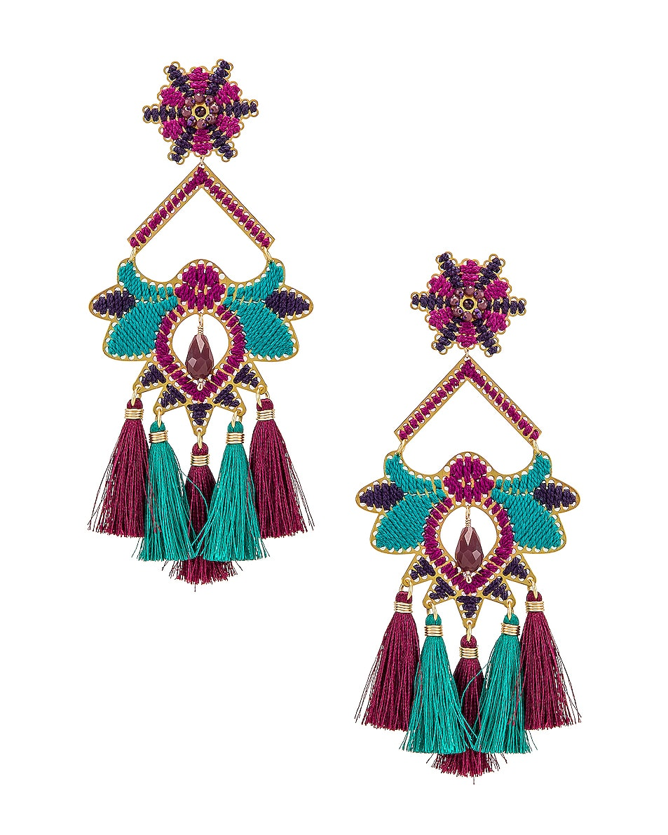 Image 1 of Mercedes Salazar Flor Del Paramo Earrings in Violet