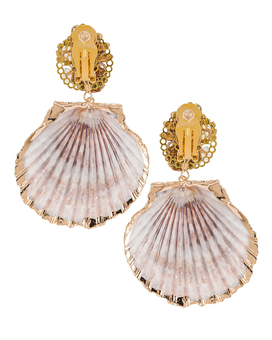 Image 4 of Mercedes Salazar Fiesta Shell Earrings in Natural