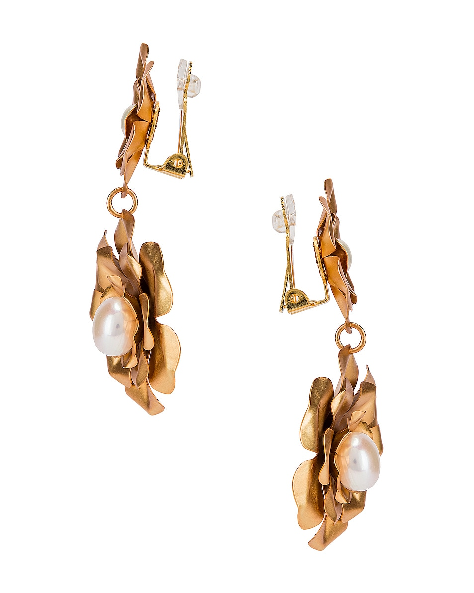 Image 2 of Mercedes Salazar Flower Earrings in Gold