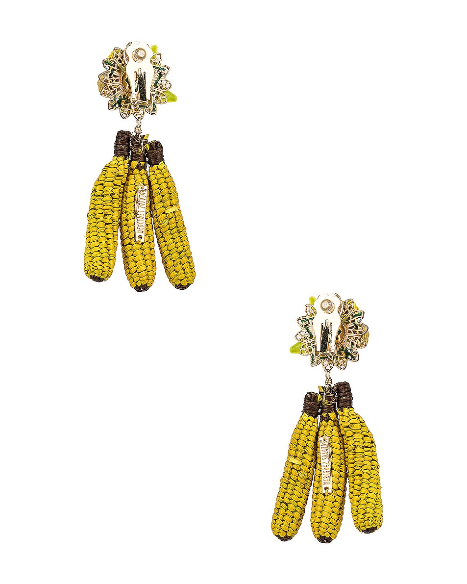 Image 4 of Mercedes Salazar Banana Tropics Earrings in Yellow