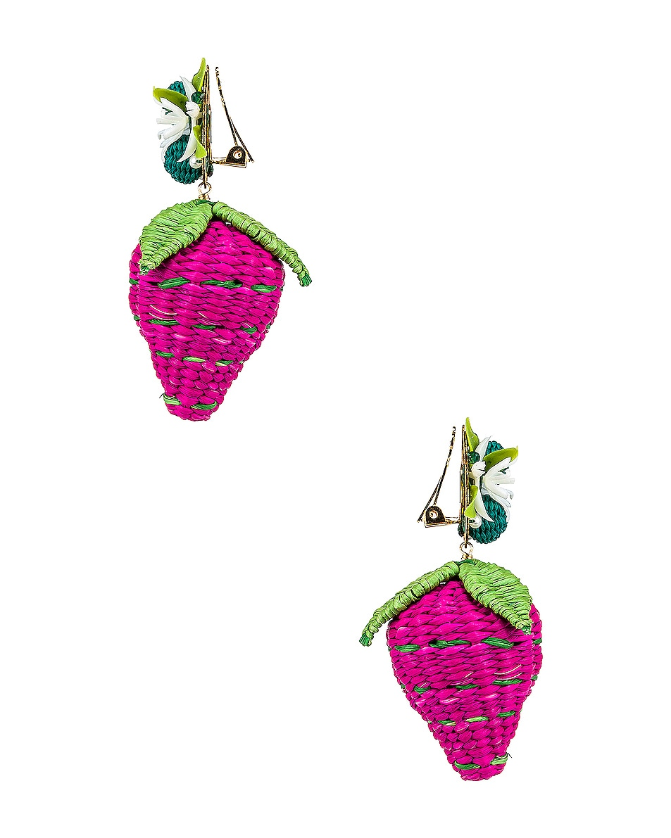 Image 3 of Mercedes Salazar Strawberry Tropics Earrings in Pink