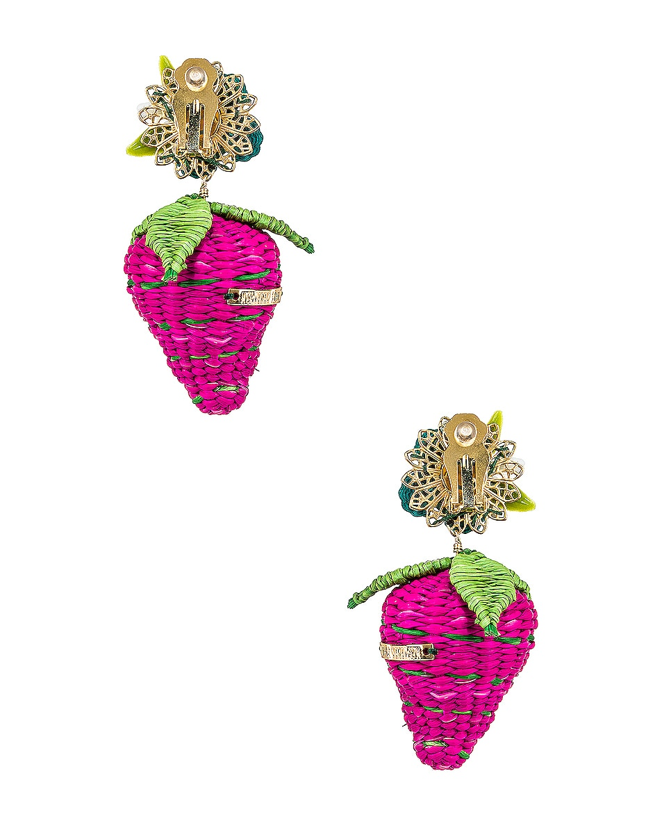 Image 4 of Mercedes Salazar Strawberry Tropics Earrings in Pink