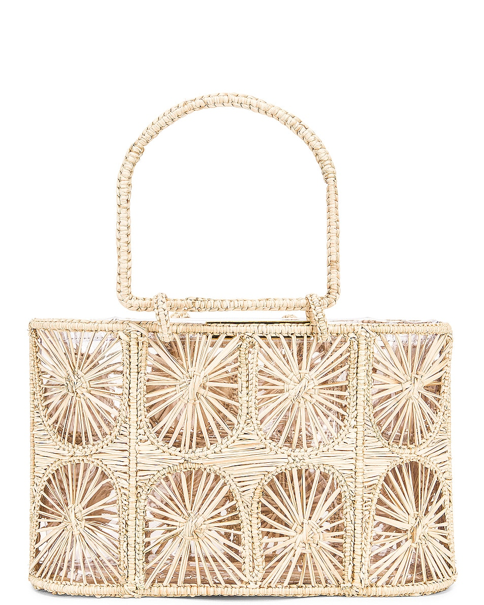 Image 3 of Mercedes Salazar Woven Shell Bag in Natural