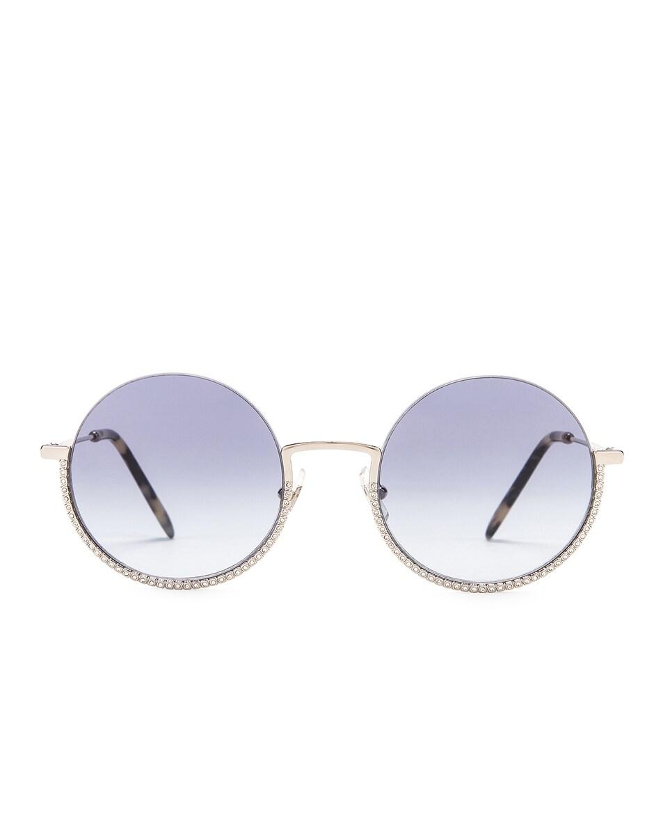 Image 1 of Miu Miu Round Sunglasses in Silver