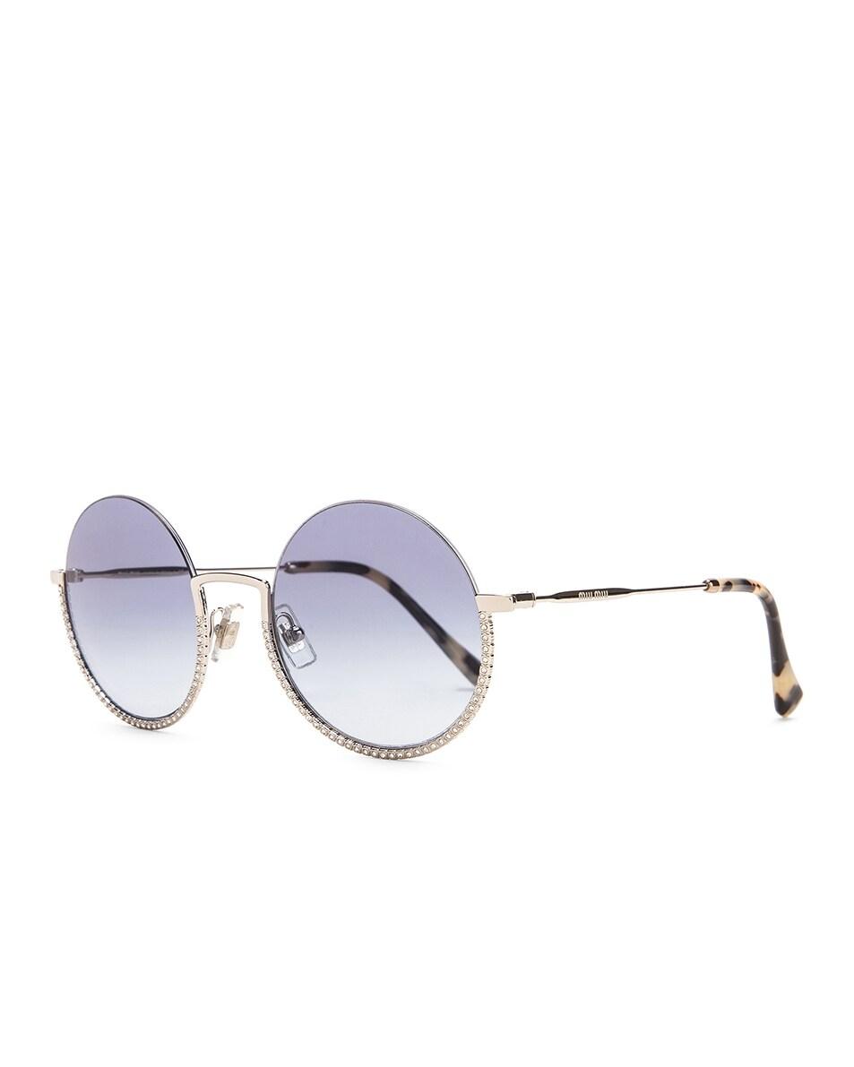 Image 2 of Miu Miu Round Sunglasses in Silver