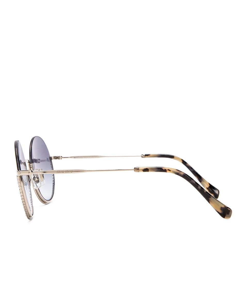 Image 3 of Miu Miu Round Sunglasses in Silver