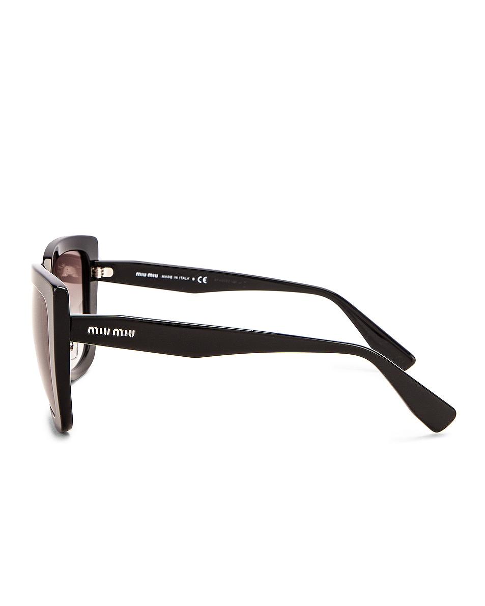 Image 3 of Miu Miu Oversized Square Sunglasses in Black