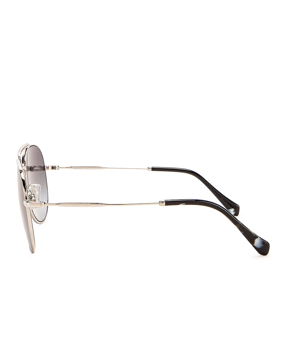 Image 3 of Miu Miu Aviator Sunglasses in Silver