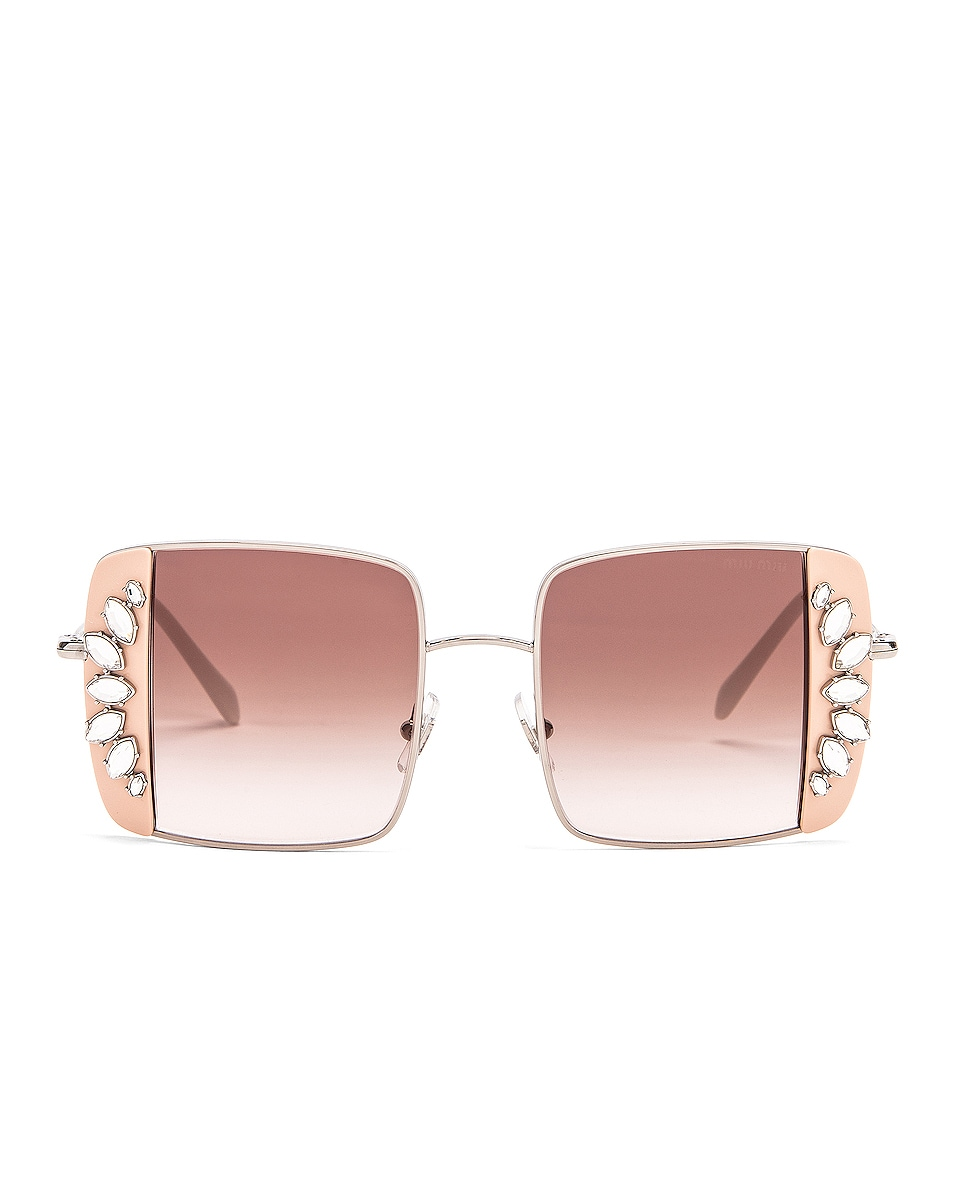 Image 1 of Miu Miu Noir Sunglasses in Pink