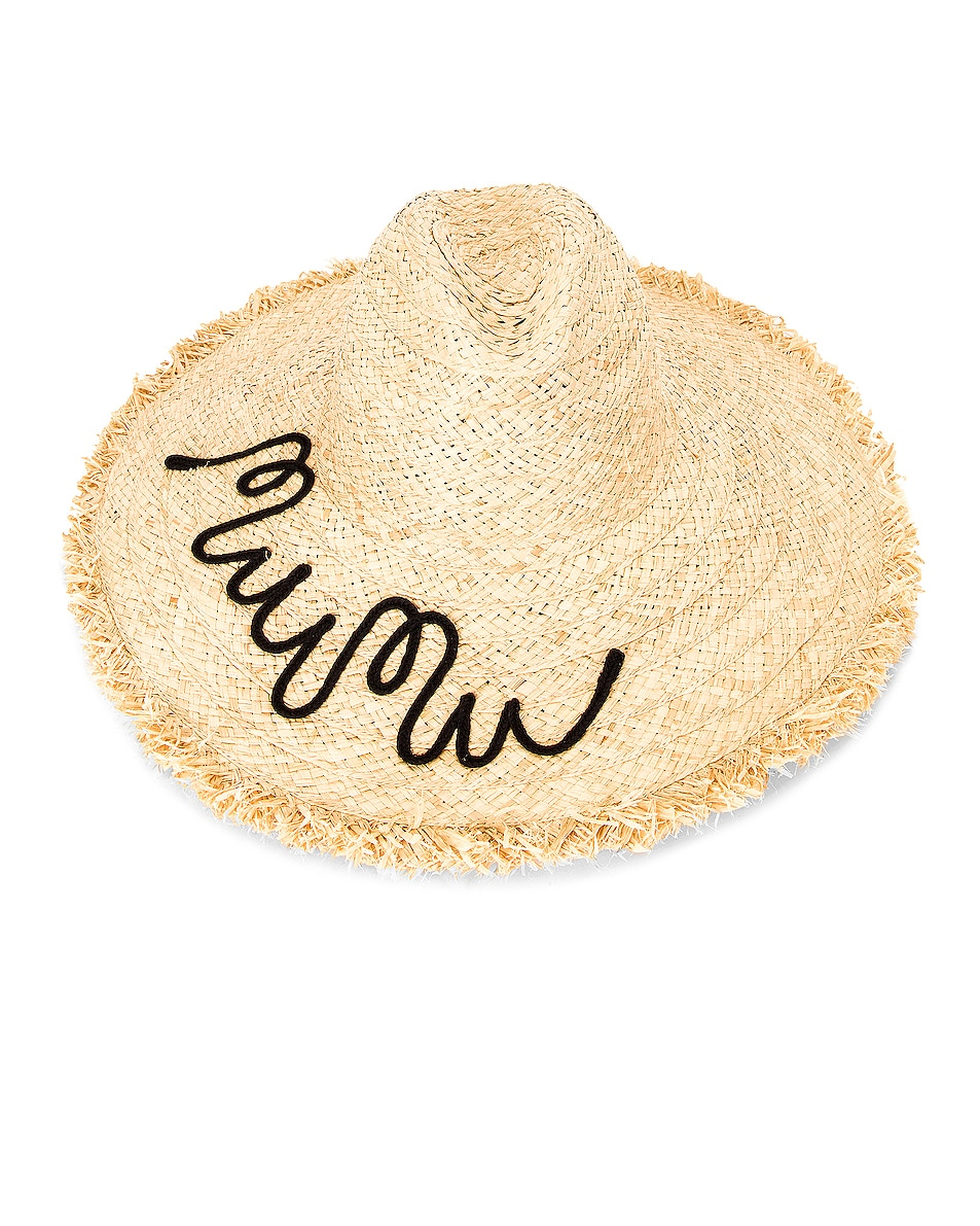 Image 1 of Miu Miu Raffia Hat in Neutral