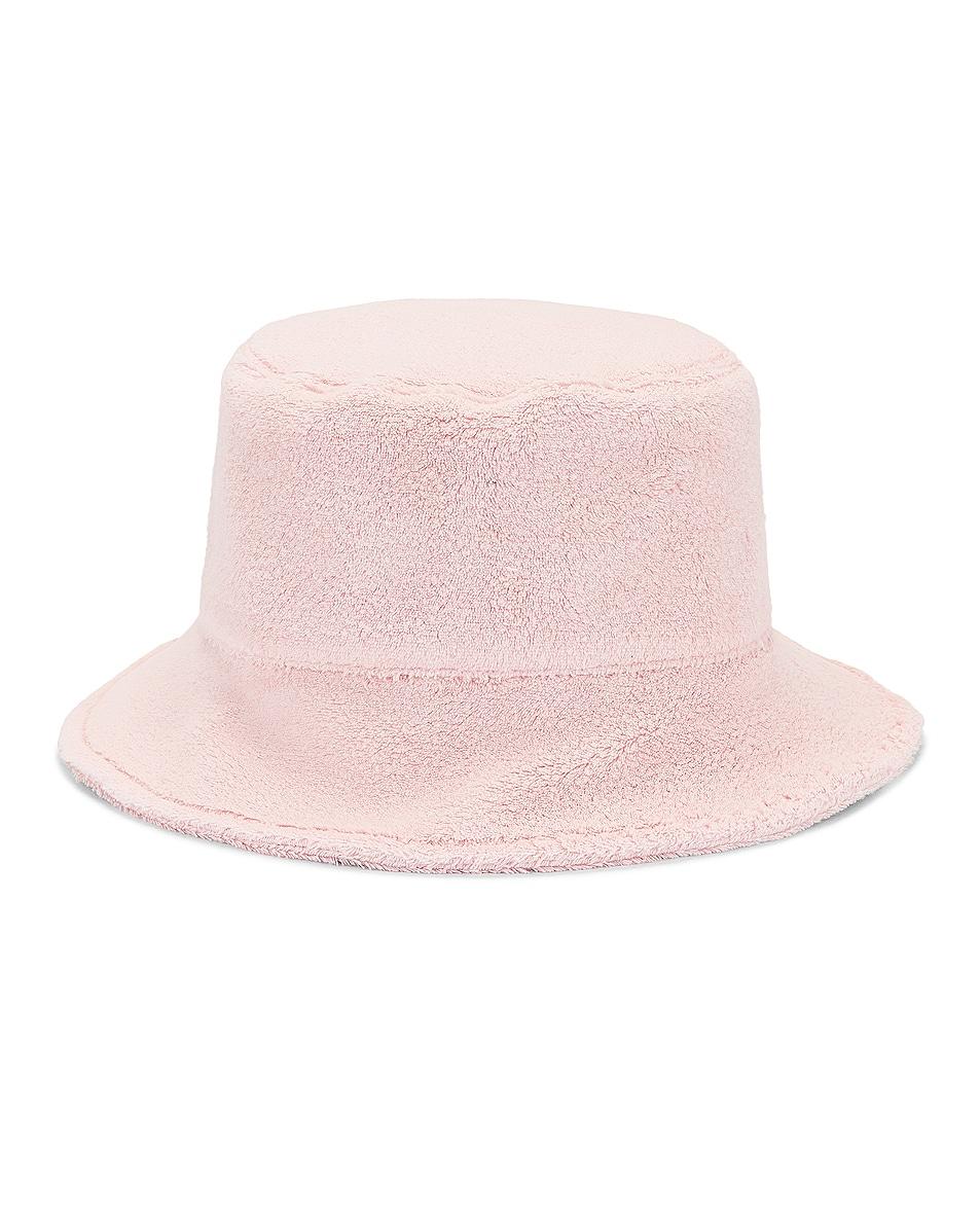 Image 1 of Miu Miu Terrycloth Bucket Hat in Petalo