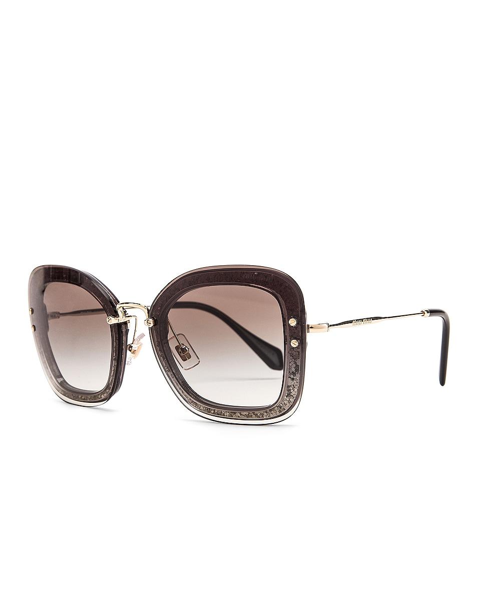 Image 2 of Miu Miu Square Sunglasses in Black