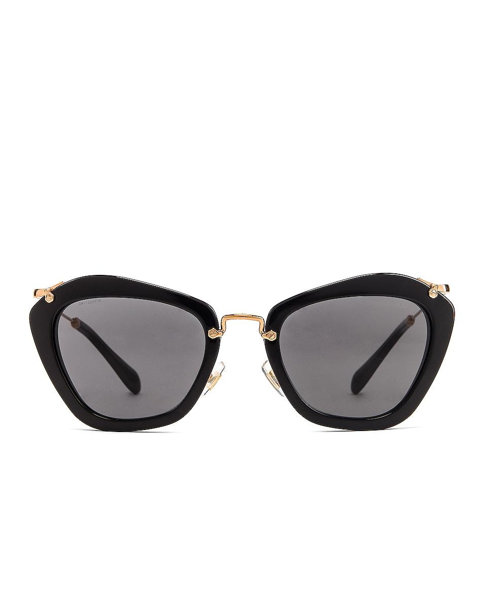 Image 1 of Miu Miu Cat Eye Sunglasses in Black