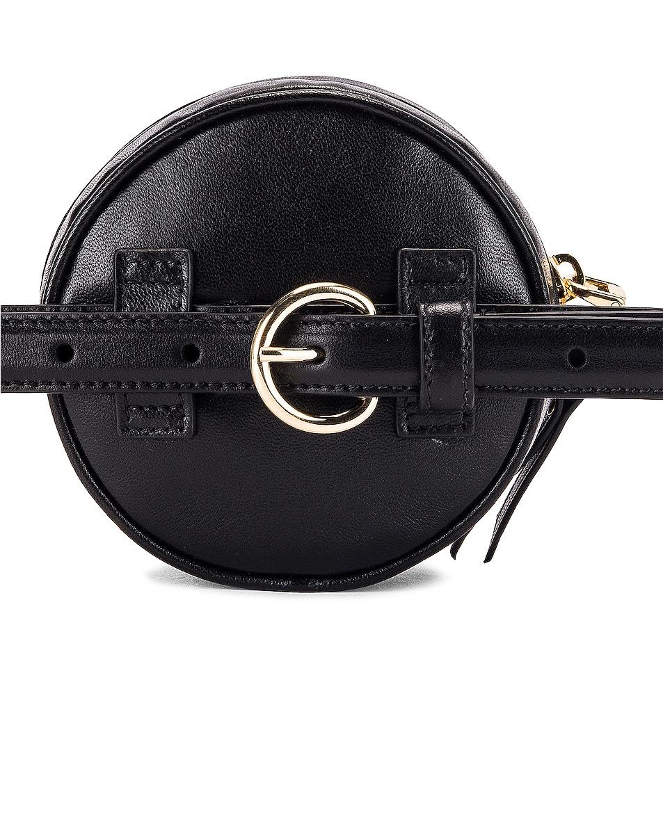 Image 3 of Miu Miu Quilted Circle Belt Bag in Black
