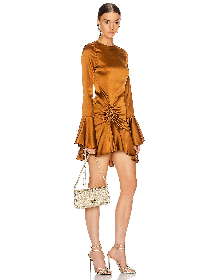 Image 2 of Miu Miu Crystal Chain Bag in Gold