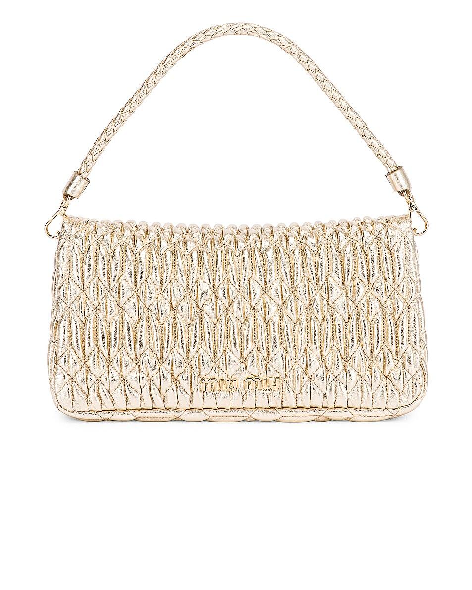 Image 3 of Miu Miu Crystal Chain Bag in Gold